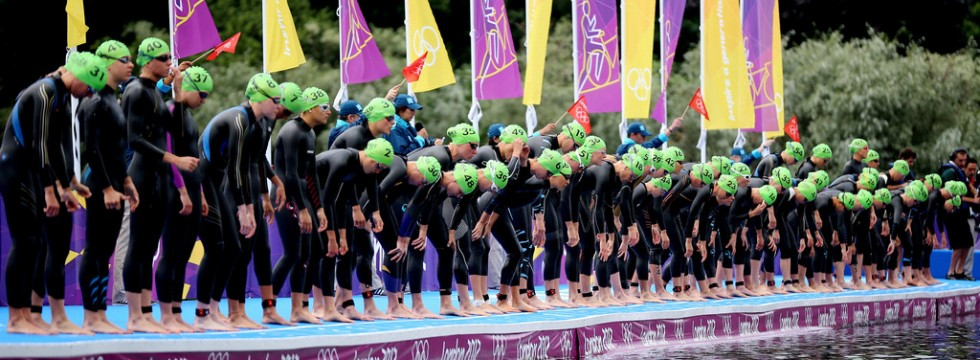 London 2012 Olymics - Women's Triathlon start