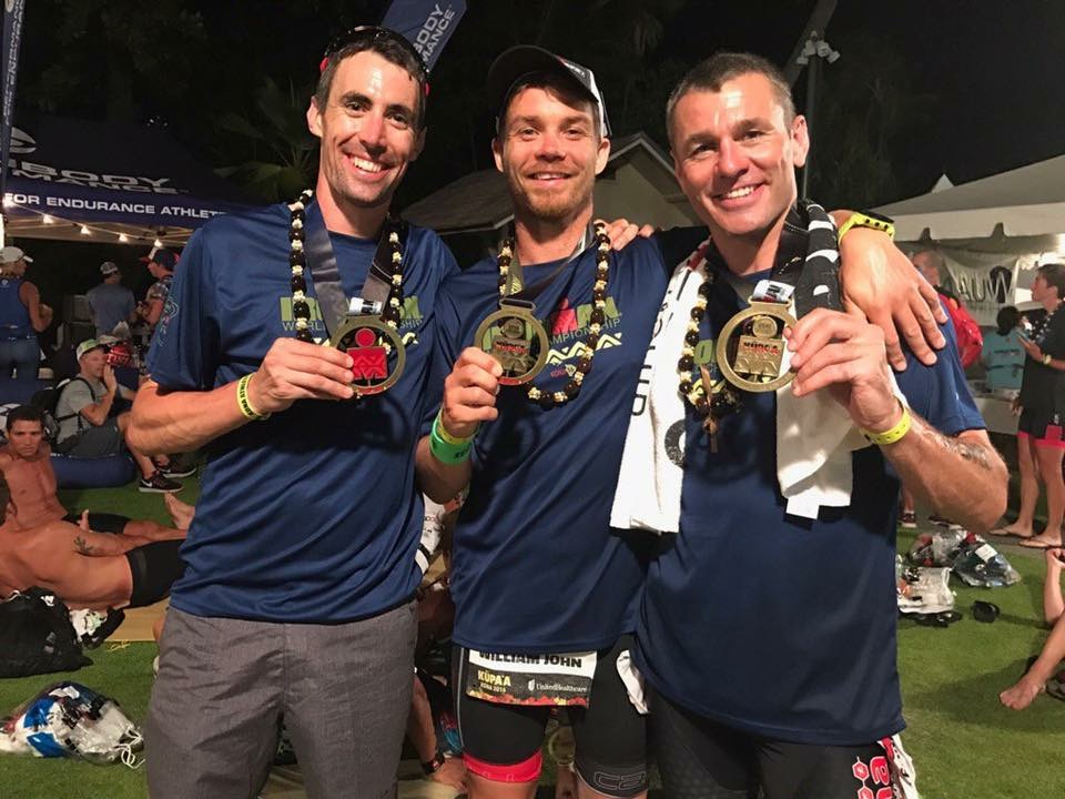 James Beckinsale Kona 2016 - medals
